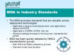 mda in industry standards