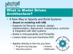 what is model driven architecture