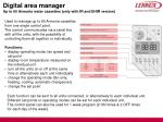digital area manager up to 60 armonia water cassettes only with ir and ehir version