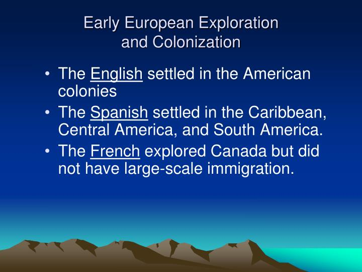 compare and contrast the exploration and colonization of french english and spanish The english formed large-scale colonies along the atlantic seaboard, but unlike the spanish, they were for the most part home-ruled that is, the leaders of the colonies generally came from those colonies instead of from britain itself.
