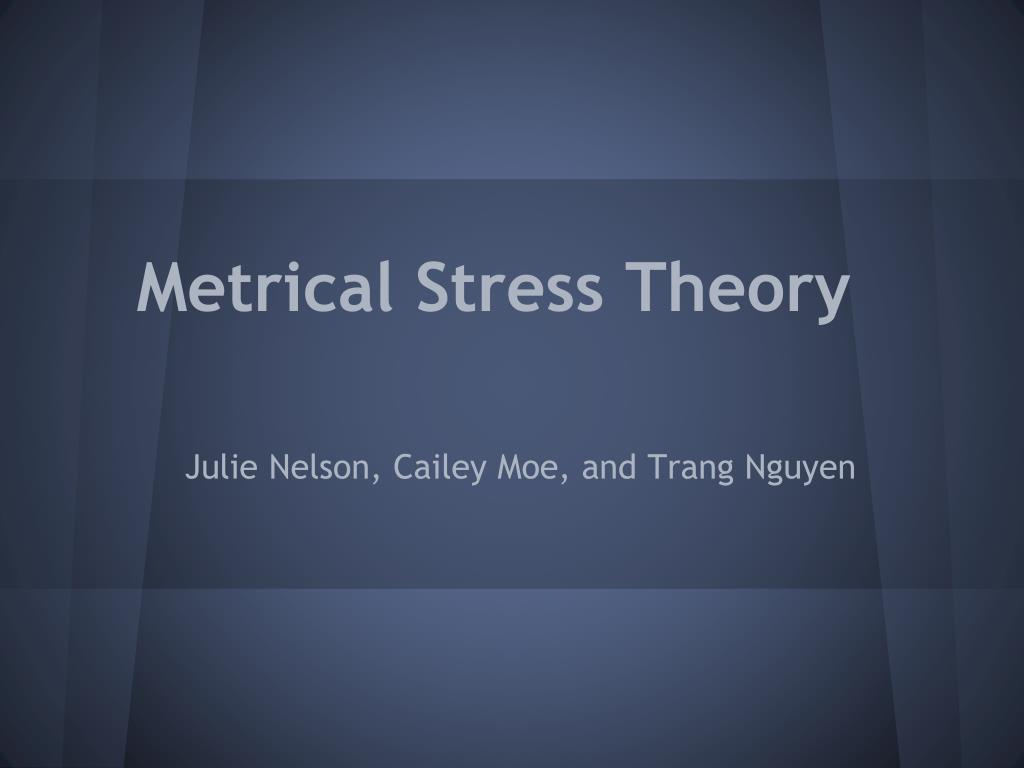 metrical stress theory l.