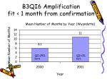 b3qi6 amplification fit 1 month from confirmation