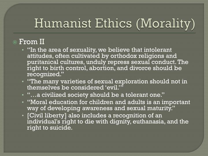 Humanist ethics morality