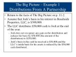 the big picture example 1 distributions from a partnership