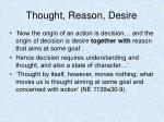 thought reason desire