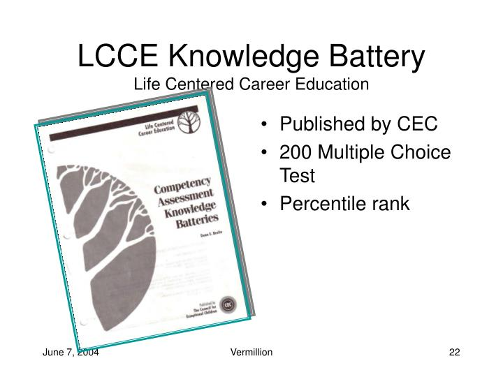 LCCE Knowledge Battery