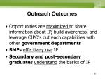 outreach outcomes