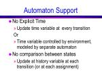 automaton support