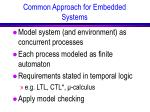 common approach for embedded systems