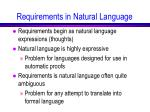 requirements in natural language