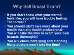 why self breast exam
