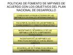 politicas de fomento de mipymes de acuerdo con los objetivos del plan nacional de desarrollo