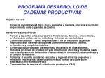 programa desarrollo de cadenas productivas