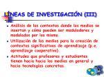 l neas de investigaci n iii