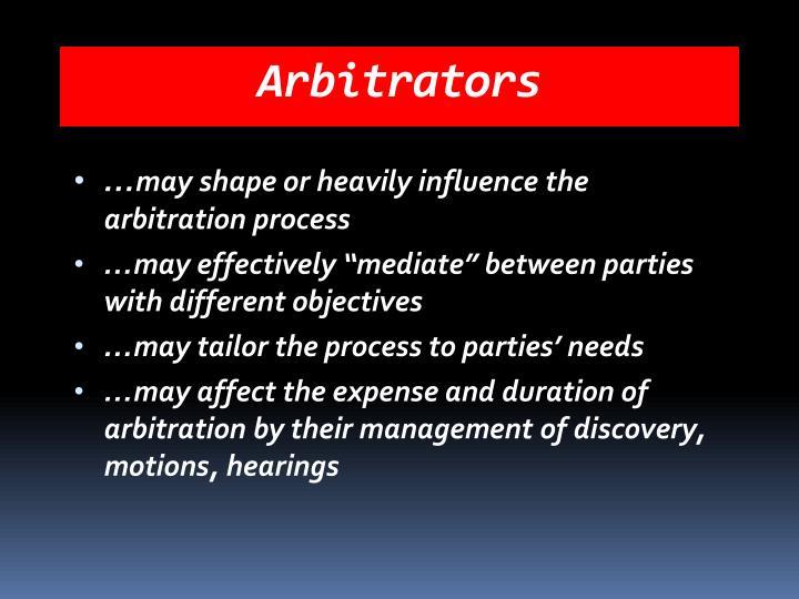 Arbitrators