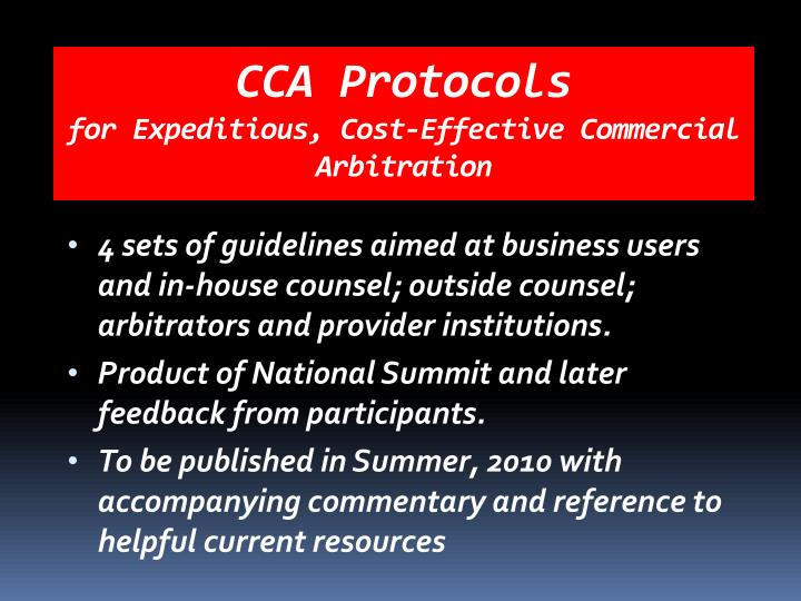 CCA Protocols