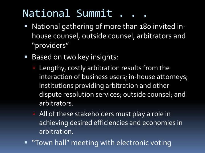 National Summit . . .