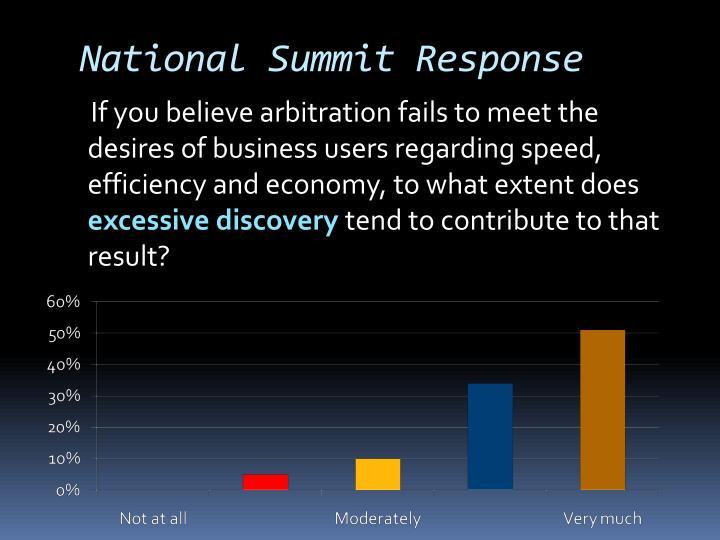 National Summit Response