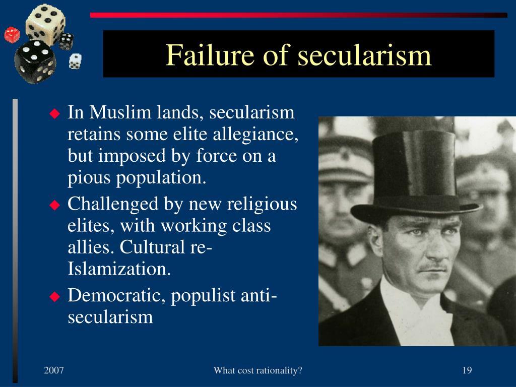 Failure of secularism