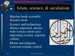 islam science secularism