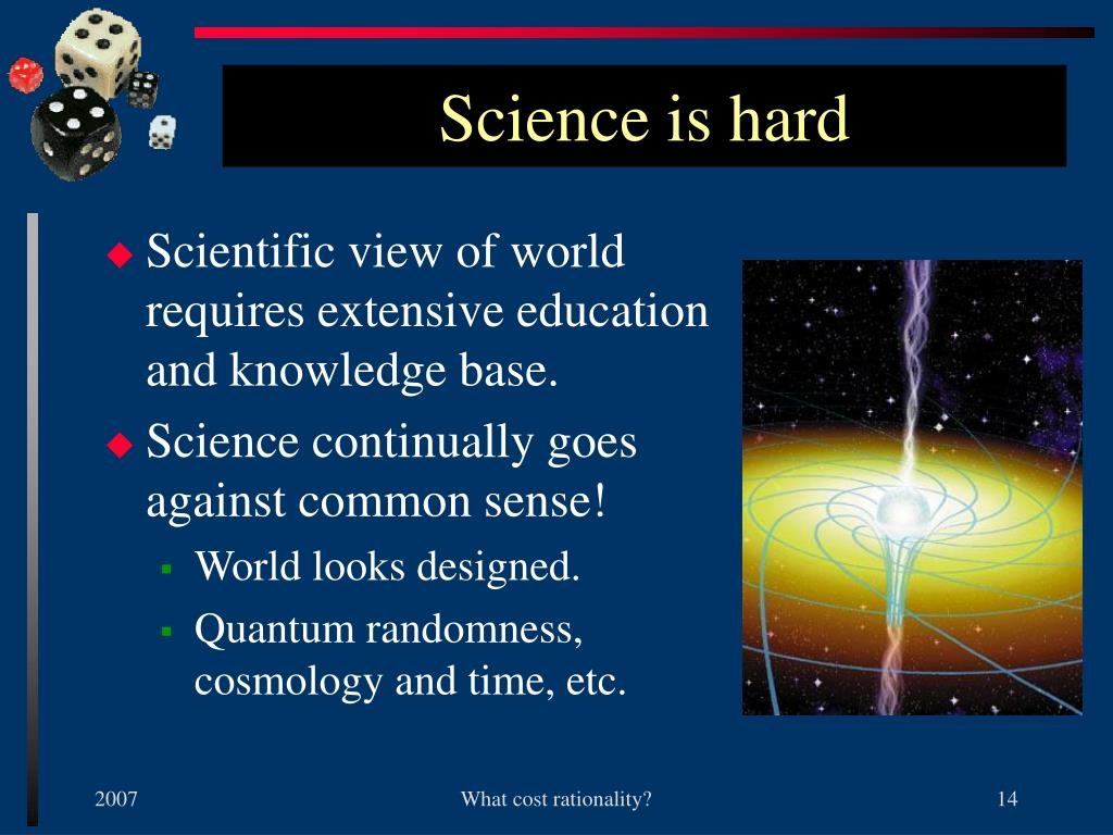 Science is hard