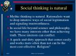social thinking is natural