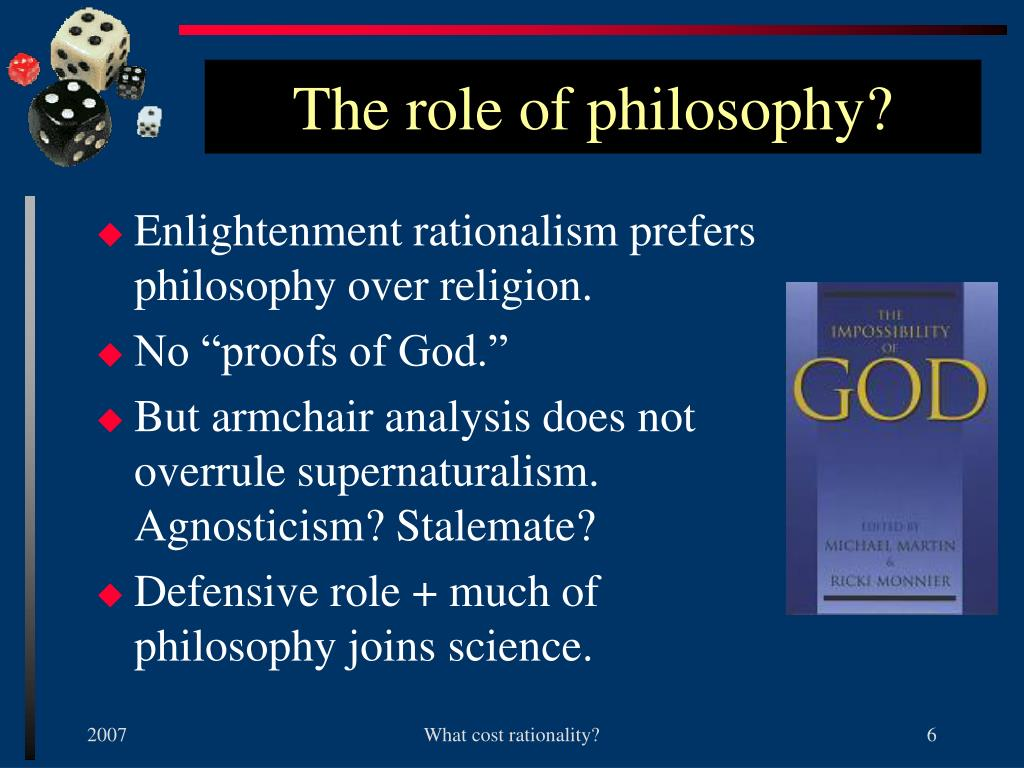 The role of philosophy?