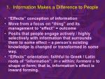 1 information makes a difference to people