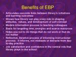 benefits of ebp
