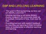 ebp and lifelong learning