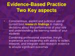 evidence based practice two key aspects