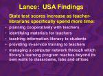 lance usa findings