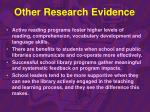 other research evidence