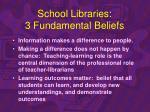 school libraries 3 fundamental beliefs