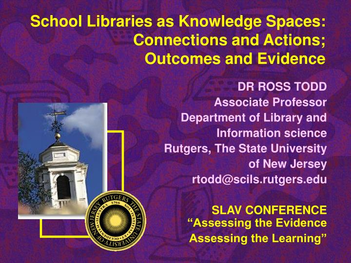 school libraries as knowledge spaces connections and actions outcomes and evidence n.