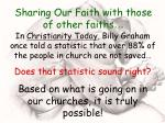 sharing our faith with those of other faiths20