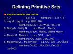 defining primitive sets56
