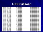 lingo answer88