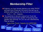 membership filter