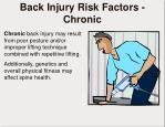 back injury risk factors chronic