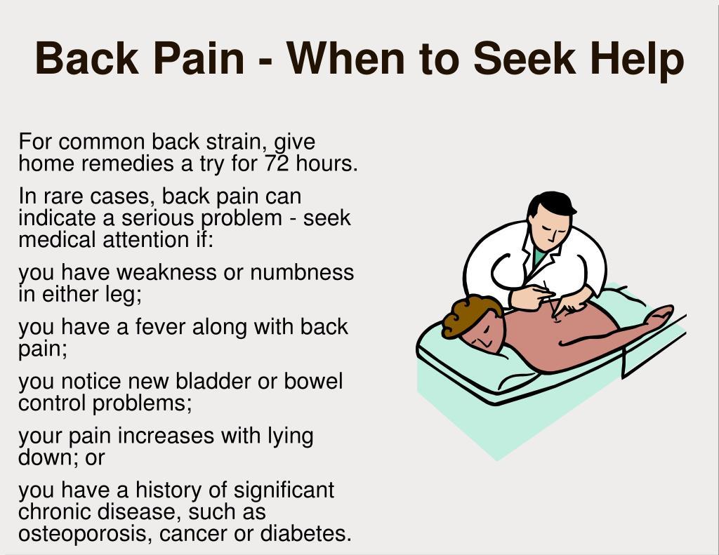 Back Pain - When to Seek Help