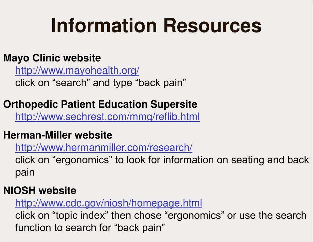 Mayo Clinic website