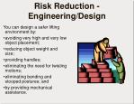 risk reduction engineering design