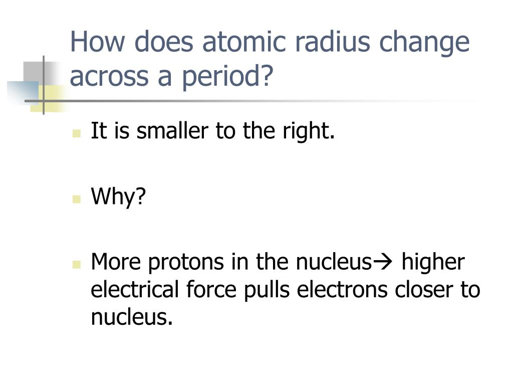 How does atomic radius change across a period?