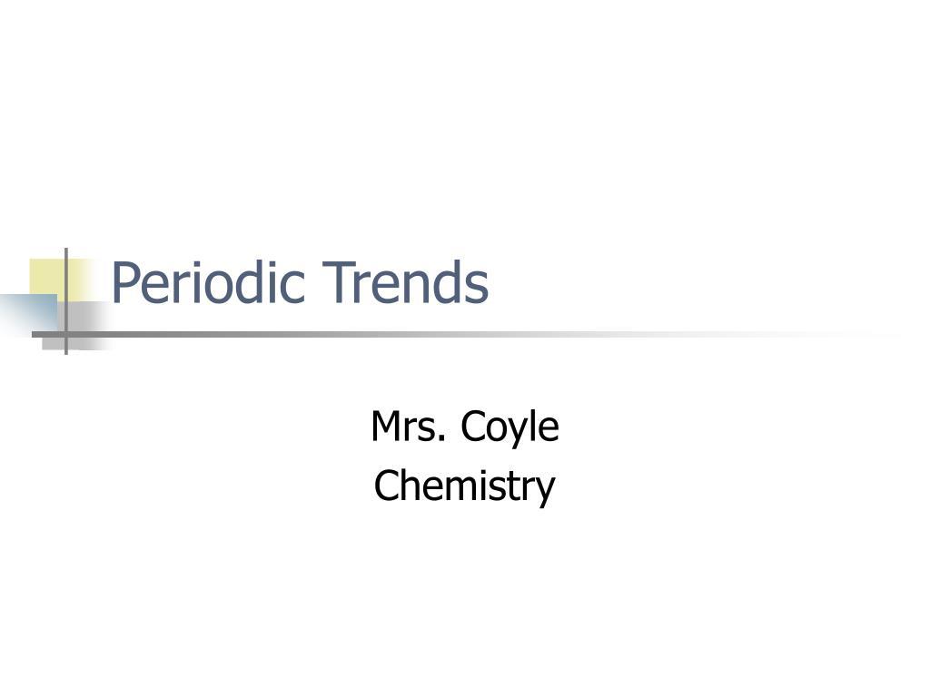 periodic trends l.