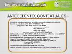 antecedentes contextuales25