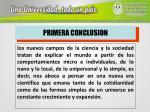 primera conclusion