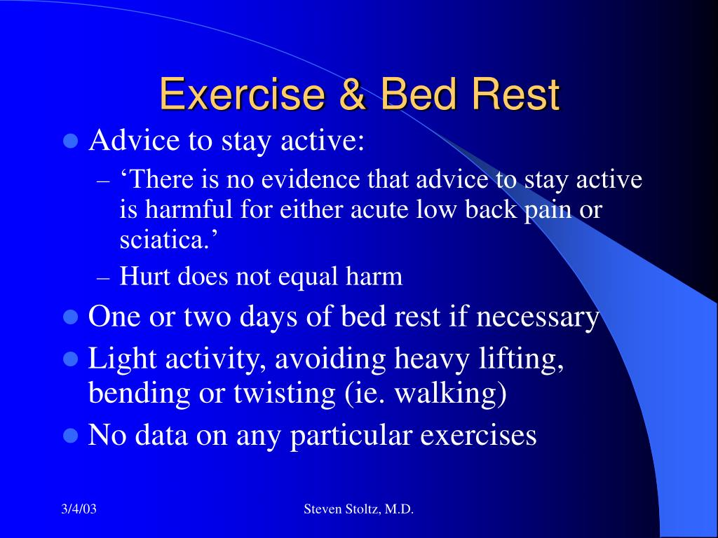 Exercise & Bed Rest