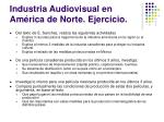 industria audiovisual en am rica de norte ejercicio