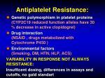 antiplatelet resistance